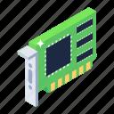 pci card, universal pci card, hardware, ethernet, microprocessor icon