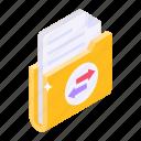 folder transfer, data transfer, data sharing, file transfer, document transfer icon