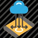 cloud storage, data transfer, database, mobile storage, online storage icon