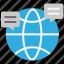 chat, communication, data communication, global communication, global network, internet, web icon