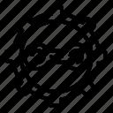 bike, chain, rotation