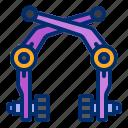 bicycle, bike, brake, caliper, rim icon