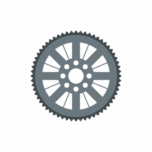 bicycle, chain, equipment, gear, part, sprocket, wheel icon