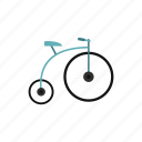 antique, bicycle, bike, old, retro, vintage, wheel icon