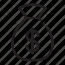 bag, bank, dollar, money icon icon
