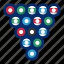 balls, billiard, sport icon