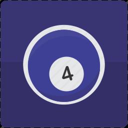 ball, billiard, billiards, four, pool icon