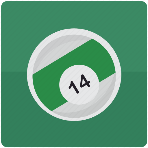 ball, billiard, billiards, fourteen, pool icon