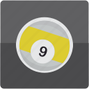 ball, billiard, billiards, nine, pool icon
