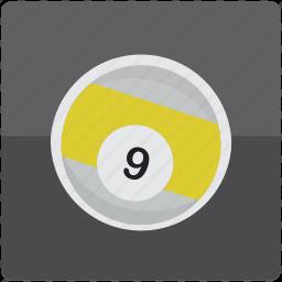 ball, billiard, billiards, nine, pool icon