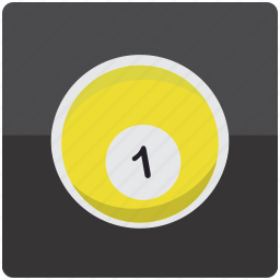 ball, billiard, billiards, one, pool icon