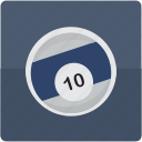 ball, billiard, billiards, pool, ten icon