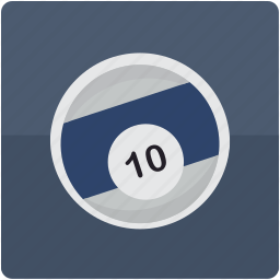ball, billiard, billiards, pool, ten icon