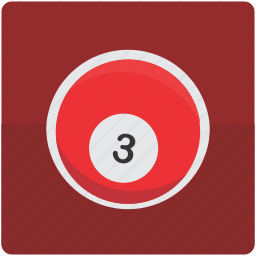 ball, billiard, billiards, pool, three icon