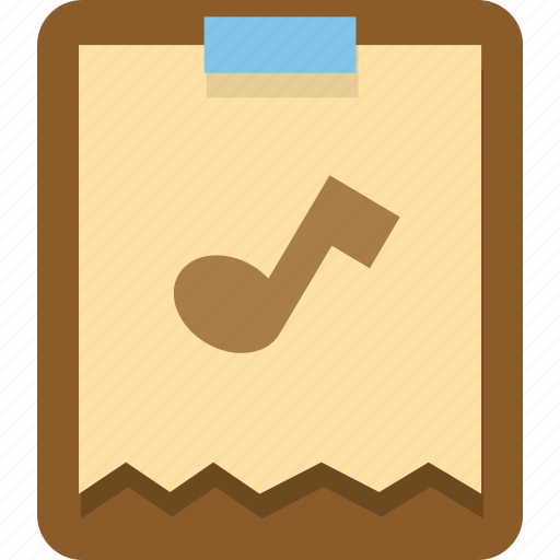 audio, clipboard, document, music, office, paste icon