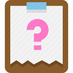 clipboard, document, office icon