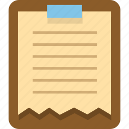 clipboard, document, office, paper, paste, text icon