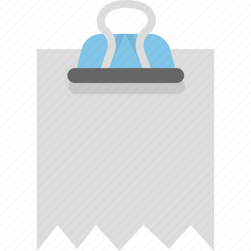 attachment, binder, document, file, invoice, receipt icon