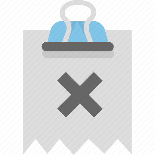 attachment, binder, document, invoice, receipt icon