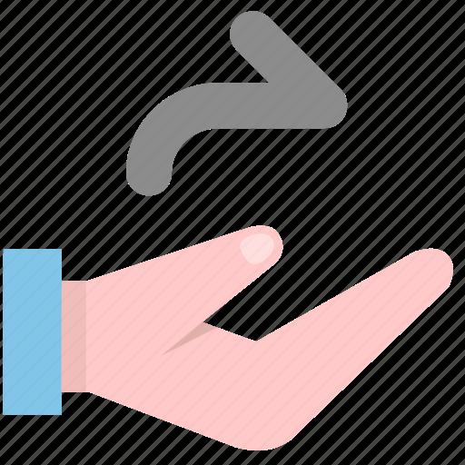 deliver, forward, hand icon