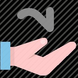 deliver, hand icon