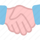 business, cooperation, hands, opportunity, partner icon