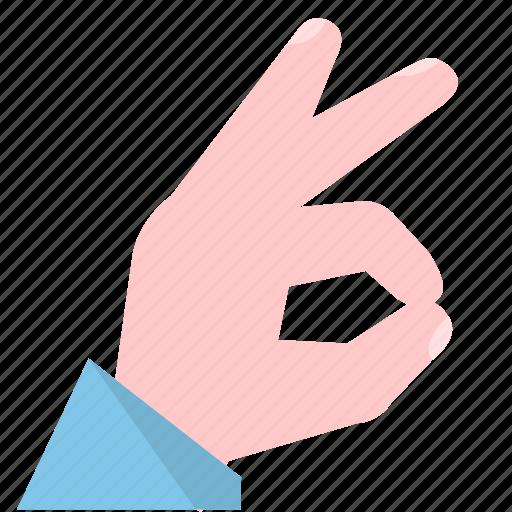 agree, hand, okay icon