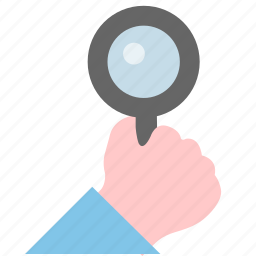 find, hand, peek, search icon
