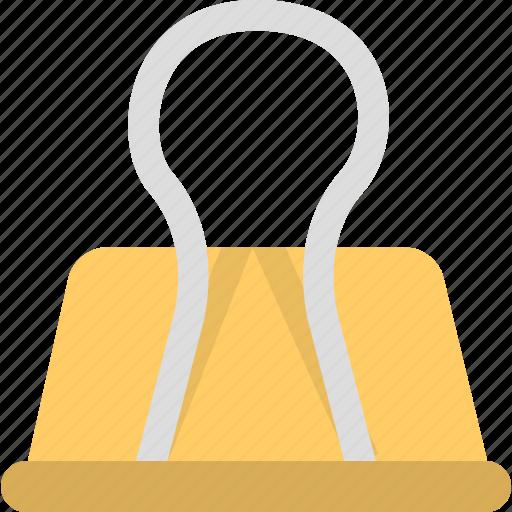 attachment, binder, document, office icon
