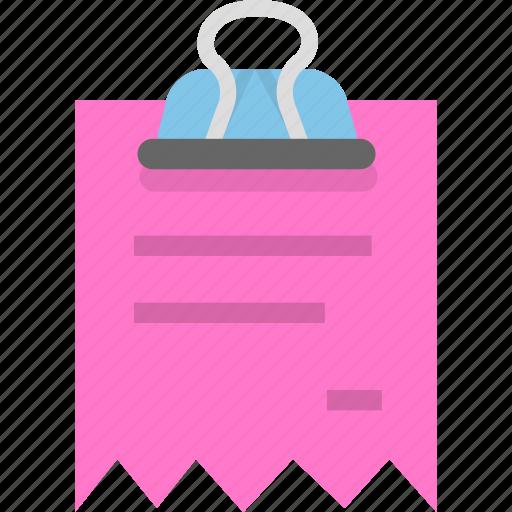 binder, document, finance, invoice, receipt icon