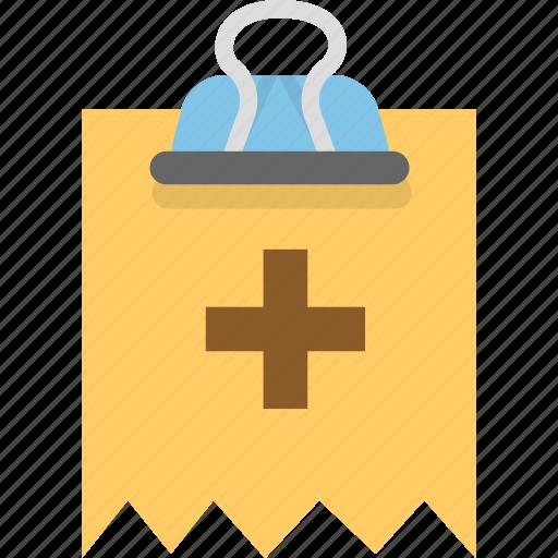 attachment, binder, invoice, receipt icon