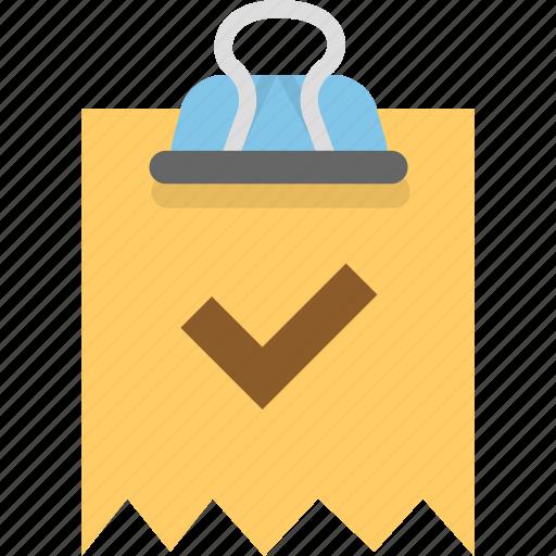 binder, invoice, receipt icon