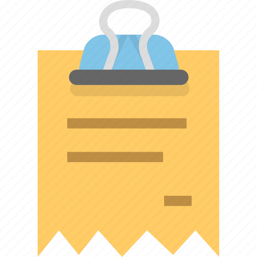 binder, document, finance, office, receipt icon