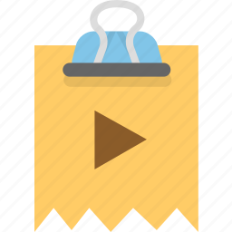 binder, document, video icon