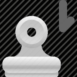 attachment, binder, download icon
