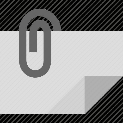 attachment, binder, document, file, invoice, paperclip, receipt icon