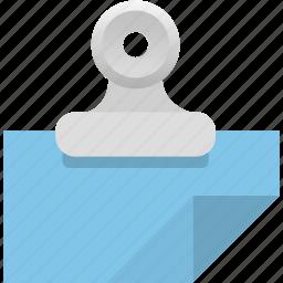 attachment, binder, document, file, invoice, paper, receipt icon