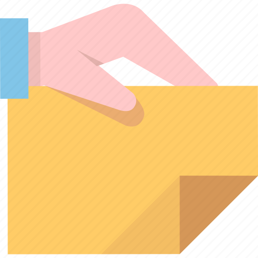 attachment, binder, document, hand, office icon