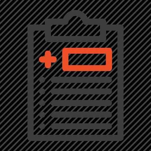 Clipboard, medical, medicine, test icon - Download on Iconfinder