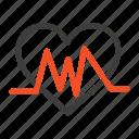 heart, heartbeat, medical, pulse icon