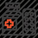 hospital, medical, medicine, pills icon