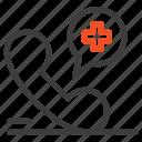 hospital, medical, mobile, phone icon