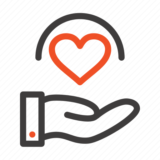 Care, hand, heart, medical icon - Download on Iconfinder