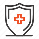 board, hospital, shield, sign icon
