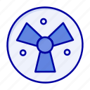 fan, medical, radiation, warining icon