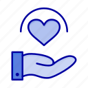 care, hand, heart, medical icon