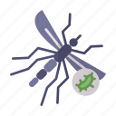 bacteria, corona, healthcare, medical, mosquito, transmission, virus icon