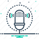 recognition, voice, voice recognition, waves icon