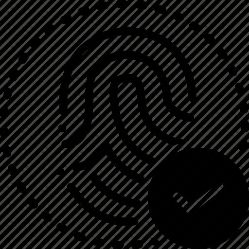 Approved, coincide, concur, fingerprint, fingerprint matched, matched icon - Download on Iconfinder