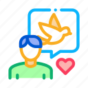 bird, human, love, ornithologist, quote, speaking, talk